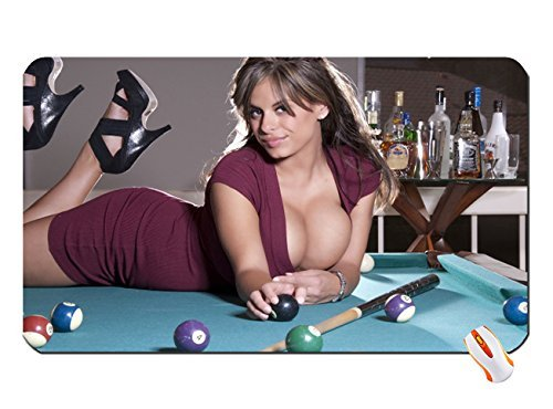 Brunettes Women Cleavage Models High Heels Huge Boobs Billiards - Huge pool table
