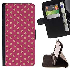 BullDog Case - FOR/Samsung Galaxy S4 IV I9500 / - / Polka Dot pattern /- Monedero de cuero de la PU Llevar cubierta de la caja con el ID Credit Card Slots Flip funda de cuer