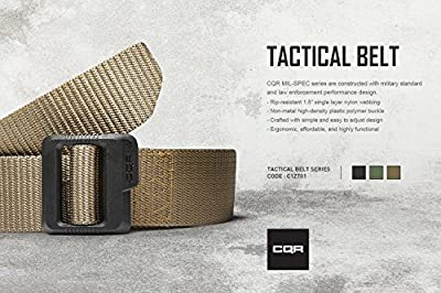 "CQR Tactical Belt 100% Full Refund Assurance Nylon Webbing EDC Duty 1.5"" Belt MZT01"