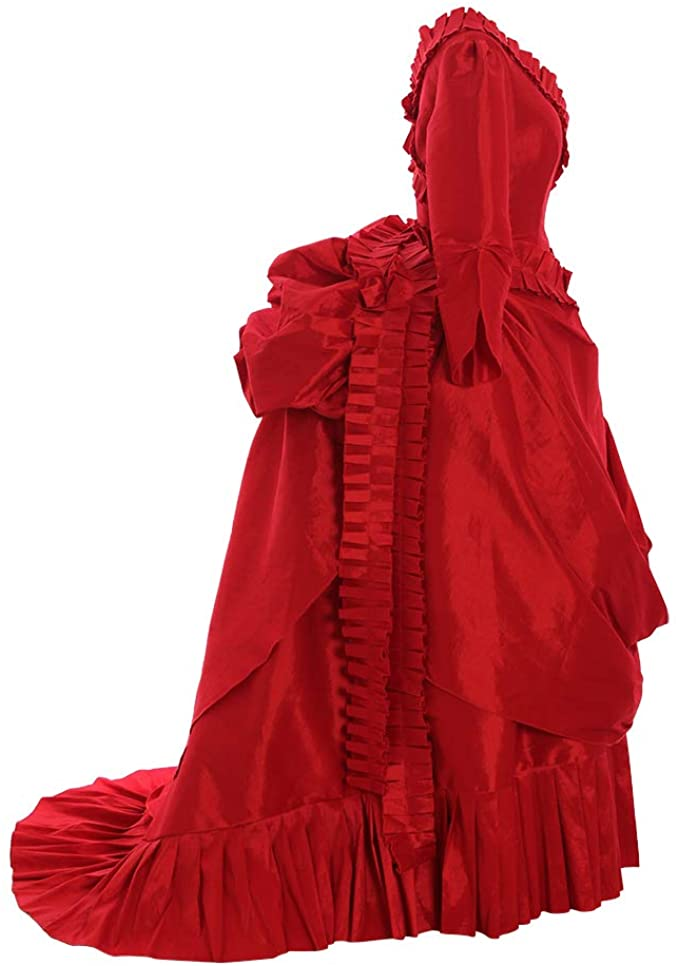 Victorian Dresses | Victorian Ballgowns | Victorian Clothing 1791s lady Victorian Women Medieval Rococo Gothic Retro Ball Gown Antoinette Queen Princess Red Dress  AT vintagedancer.com