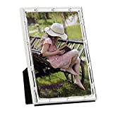 RPJC 4x6 Picture Frames Made of Metal (Steel) and High Definition Glass for Table Top Display Photo Frame Silvery