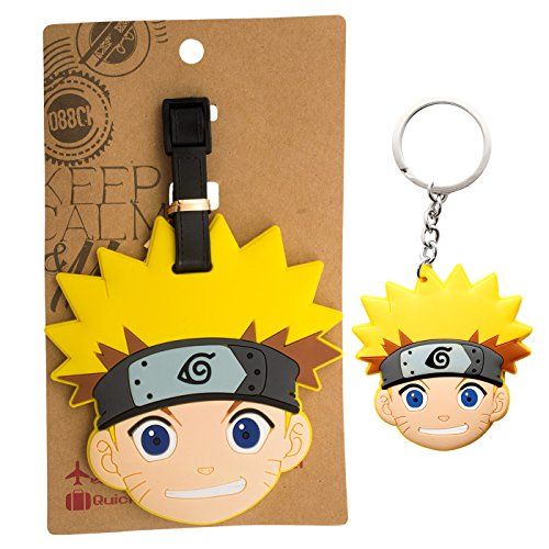 AmebaConcept-Naruto-Shippuden-Manga-Anime-Travel-Pack-PVC-Luggage-Tag-Key-Chain
