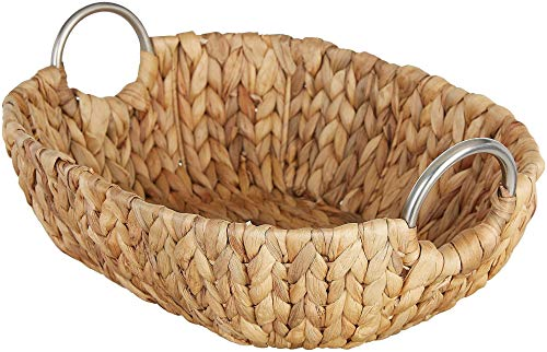 Straw Studios Oval Woven Serving Tray Large Natural