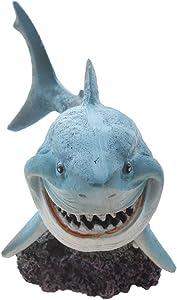 emours Resin Shark Fish Tank Decor Aquarium Ornament Home Decoration