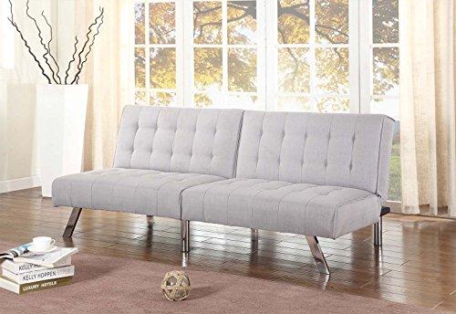 light-grey-linen-with-split-back-adjustable-klik-klak-sofa-futon-bed-sleeper-convertible-quality-275