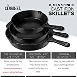Pre-Seasoned Cast Iron Skillet 2-Piece Set (10-Inch and 12-Inch) Oven Safe Cookware | 2 Heat-Resistant Holders | Indoor and Outdoor Use