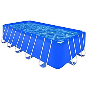 "SKB Family Above Ground Swimming Pool Steel Rectangular 17' 9"" x 8' 10"" x 4' Frame Set Meadows"