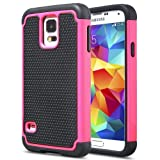 TCD for Samsung Galaxy S4 9500 [HOT PINK] Executive Armor Defender Series [HIGH IMPACT] Multi Layer [Hard/Soft Combo] TPU & Hard Plastic Shock Absorbant Case with [FREE SCREEN PROTECTOR & STYLUS PEN]