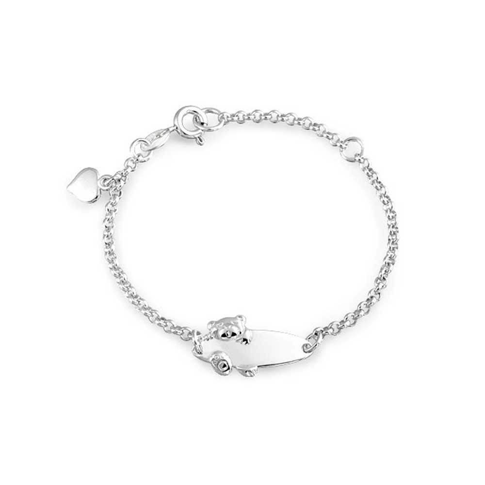 Bling Jewelry Ours pendentif en argent Bracelet Bébé 5EN SRN-BID-91-1