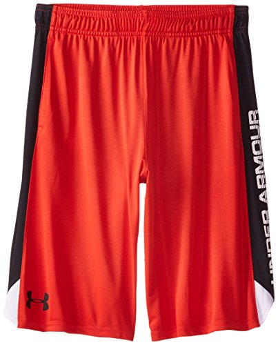 Under Armour Boys' Eliminator Shorts, Risk Red/White, Youth Medium
