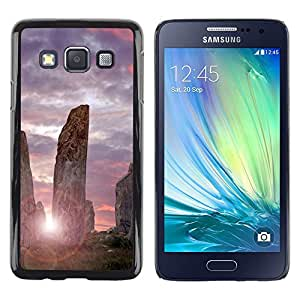 LECELL -- Funda protectora / Cubierta / Piel For Samsung Galaxy A3 SM-A300 -- Architecture Ancient Stones Sunrise --