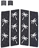 Ho Stevie! Front Traction Pad for Surfboards and Skimboards [Choose Color] (Black with White Palm Trees)
