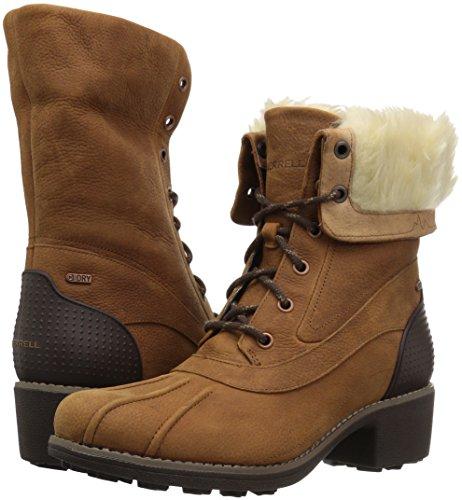 Polar Merrell Boots Waterproof Womens Chateau Ladies Oak Winter Mid Merrell Lace XqPfXZwr