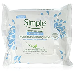 Simple Water Boost Hydrating, Cleansing Face Wipes, 25 Ounce