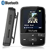 Victure Bluetooth MP3 Player 8GB Clip Sport Portable Lossless Sound Hi-Fi Music Player With Headphone FM Radio Voice Recorder, Support up 64GB