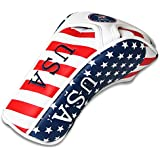 2015 Stars and Stripes American USA US Flag Fairway Wood Headcover Head Cover Titleist Taylormade Callaway Mizuno Cobra Ping Adams Nike