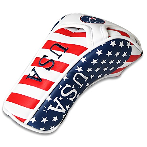 Craftsman Golf Stars & Stripes American USA US Flag Fairway Wood Headcover Head Cover Replacement For Titleist Taylormade Callaway Mizuno Cobra Ping Adams by Craftsman Golf