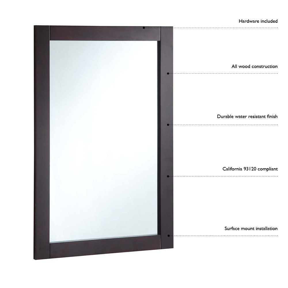 Design House 539916 24 by 31 inches Concord Ready-To-Assemble Mirror with Shelf, White by Design House (Image #2)