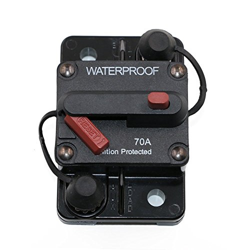 (70 Amp Surface-Mount Circuit Breakers with Manual Reset, 12V- 48V DC, Waterproof)