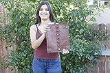 Extra Large 7 Chakra Stone - Large Handmade Leather Journal