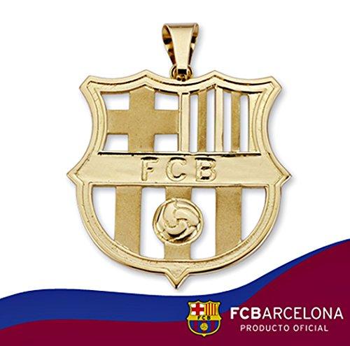 Bouclier pendentif F.C. Barcelona or 18k loi teinté [AA0845] - Modèle: