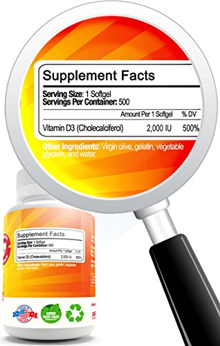 Vitamin D3 Supplement by Just Po...