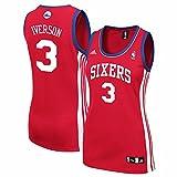 Allen Iverson Philadelphia 76ers NBA Adidas Women's Red Replica Jersey (S)