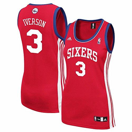 Allen Iverson Philadelphia 76ers NBA Adidas Women's Red Replica Jersey (XL)