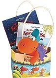 Der kleine Drache Kokosnuss - Geschenktüte: Set zwei Kokosnuss-Bücher und ein Filz-Drachen