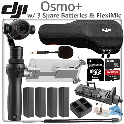DJI OSMO Plus Power Bundle - Includes 4 Osmo High Capacity Batteries & Quad Charger & 32GB MicroSD Memory Card by eDigitalUSA