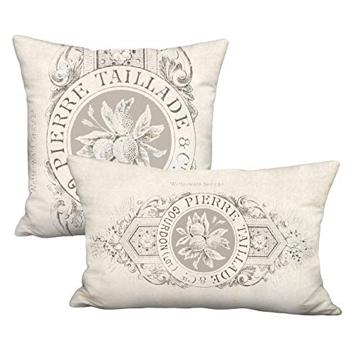 Taillade Farmhouse Pillow Cover - French Country Cottage Linen Cotton Pillow Cover - Sizes to Fit Square Inserts 16