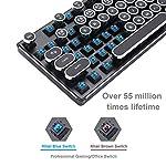 Migree USB Backlit Retro Typewriter Mechanical Keyboard-Khail Blue/Brown Switch-Full Metal Boby–LED Vintage Inspired Steampunk Gaming Keyboard–Mechanical Gaming Keyboard for PC/Mac/Gamer/Typist 8