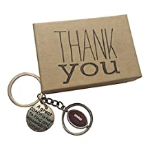 Football Coach Appreciation Keepsake Key Chain with Gift Packaging for your Coach