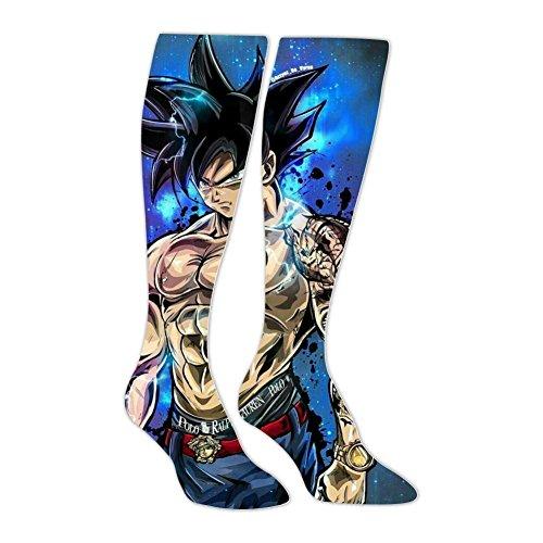 Comfortable Tattoo_Goku_Saiyan Long Socks Sport Socks Knee High Thigh Stockings