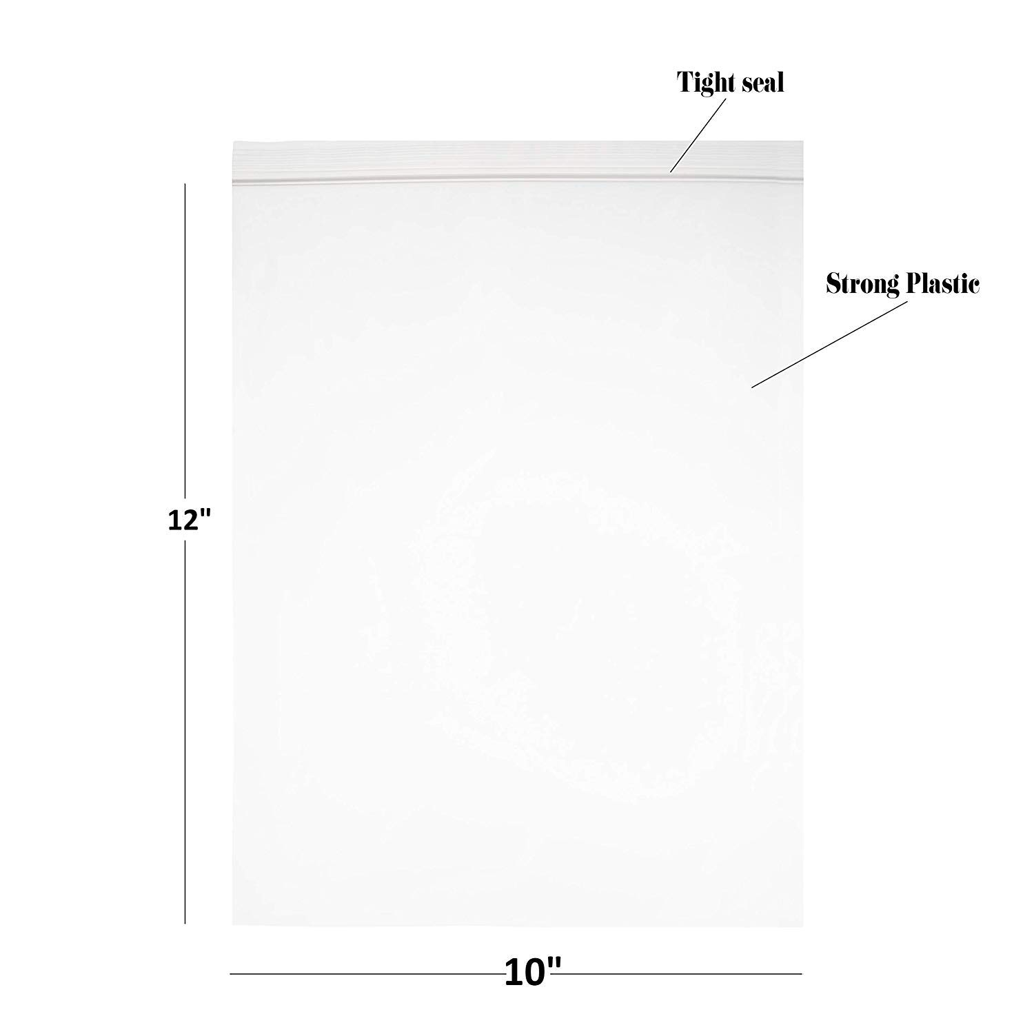Reclosable Clear Plastic Zip Bags - by DiRose | Resealable, Strong, Thick, Sturdy, Food Safe | for Organizing, Travel, Shipping, Packaging, and Storage | 10X12 | 1000 Pack by DiRose