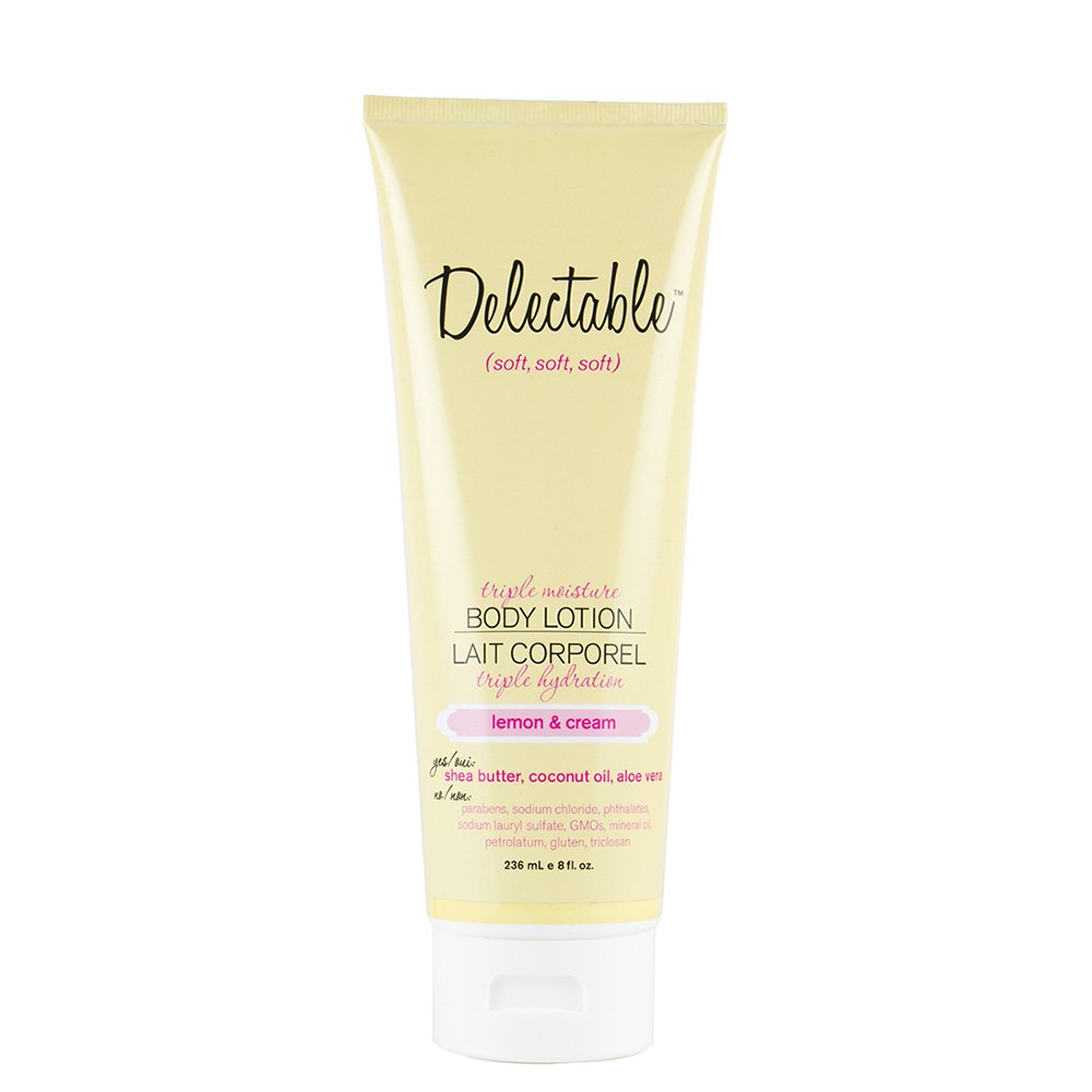 Delectable by Cake Beauty Lemon and Cream Triple Moisture Body Lotion 8 Fluid Ounces C245T
