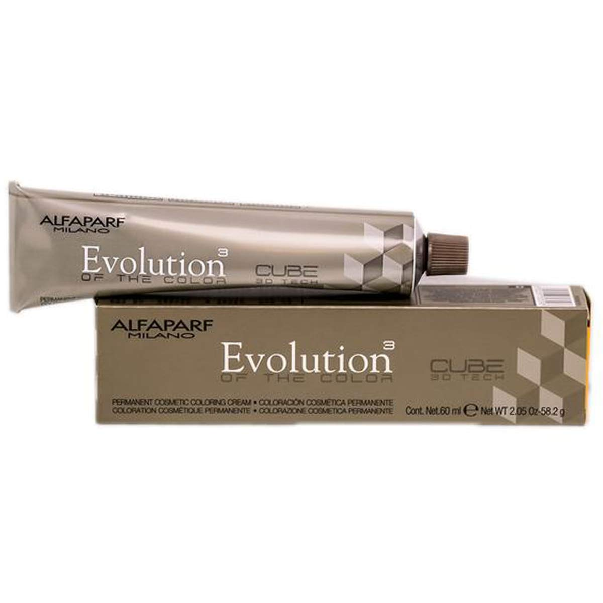Alfaparf Milano Evolution of the Color Permanent Hair Color, 2 oz (#7 Medium Natural Blonde)