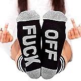 Fenta Socks Letter Print Fuck-off Pattern Casual Funny Sock Men Women Unisex by