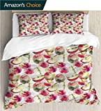 Home Duvet Cover Set,Box Stitched,Soft,Breathable,Hypoallergenic,Fade...