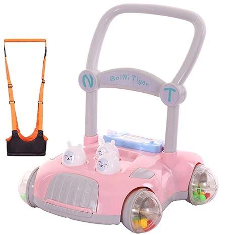 Andador infantil para bebé con luz ajustable rosa rosa Talla ...