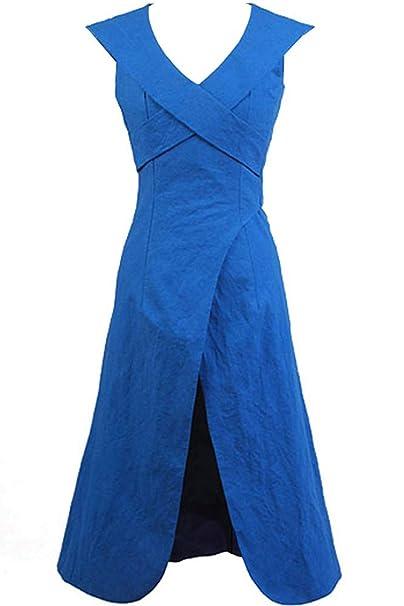 Cosplaysky Game of Thrones Costume Mother of Dragons Daenerys Targaryen  Blue Dress