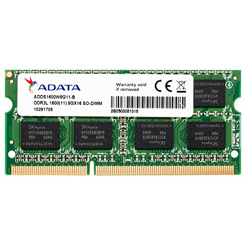 - ADATA 8GB DDR3L/DDR3 1600MHz 204-Pin SODIMM Laptop/Notebook Memory RAM Low Voltage (ADDS1600W8G11-R)