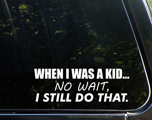 When I Was A Kid...No Wait, I Still Do That. (8-3/4