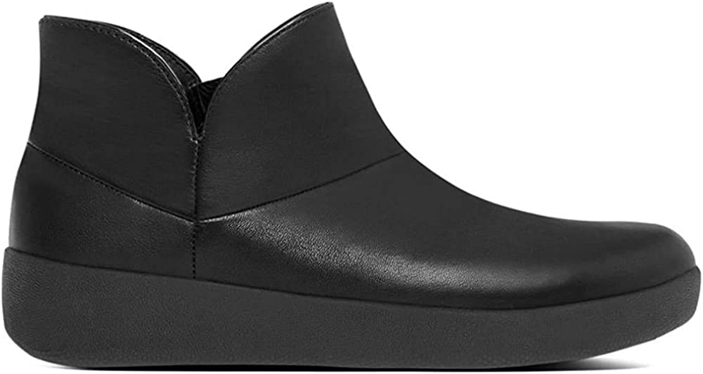 Fitflop Supermod cuir verni Bottines All Black