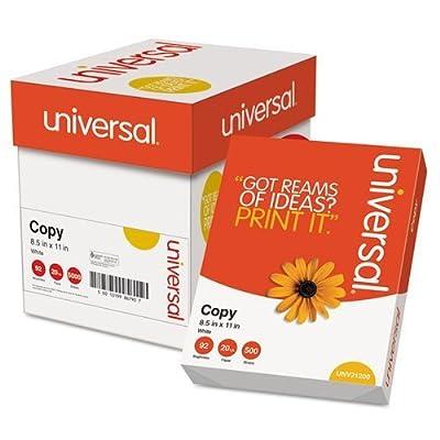 Universal - Copy Paper Convenience Carton, 92 Brightness, 20lb, 8-1/2 x 11, White, 2500/Ctn 11289 (DMi CT by Universal