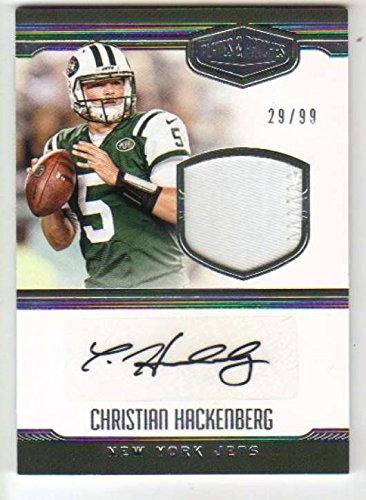 2016 Panini Plates and Patches Rookie Patch Autograph /99 Christian Hackenberg