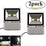 Richday 2pack 100W LED Flood Light 120V Outdoor Waterproof Security Light 8000lm Flood Fixtutr 6500k Daylight white Floodlight 900W Halogen Bulb Equivalent