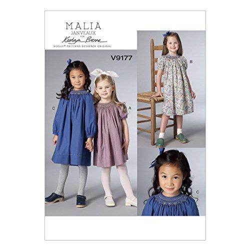 Hoop Diagonal (Vogue Patterns V9177 Children's/Girl's Smocked Raglan-Sleeve Dresses, CDD (2-3-4-5))