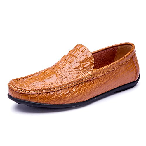 Light voiture Casual L'Homme Casual Chaussures Chaussures de la classique qualité conduisant Patins brown haute 7EUE6qZ