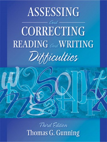 assessing and correcting reading and writing difficulties 5th edition pdf